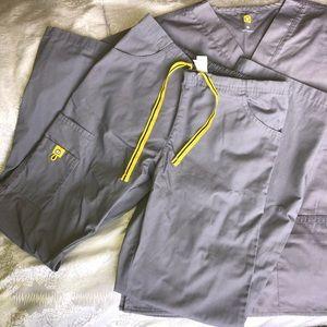 Wonderwink Scrub set XS Grey
